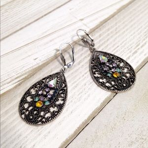 Vintage style chandelier statement earrings